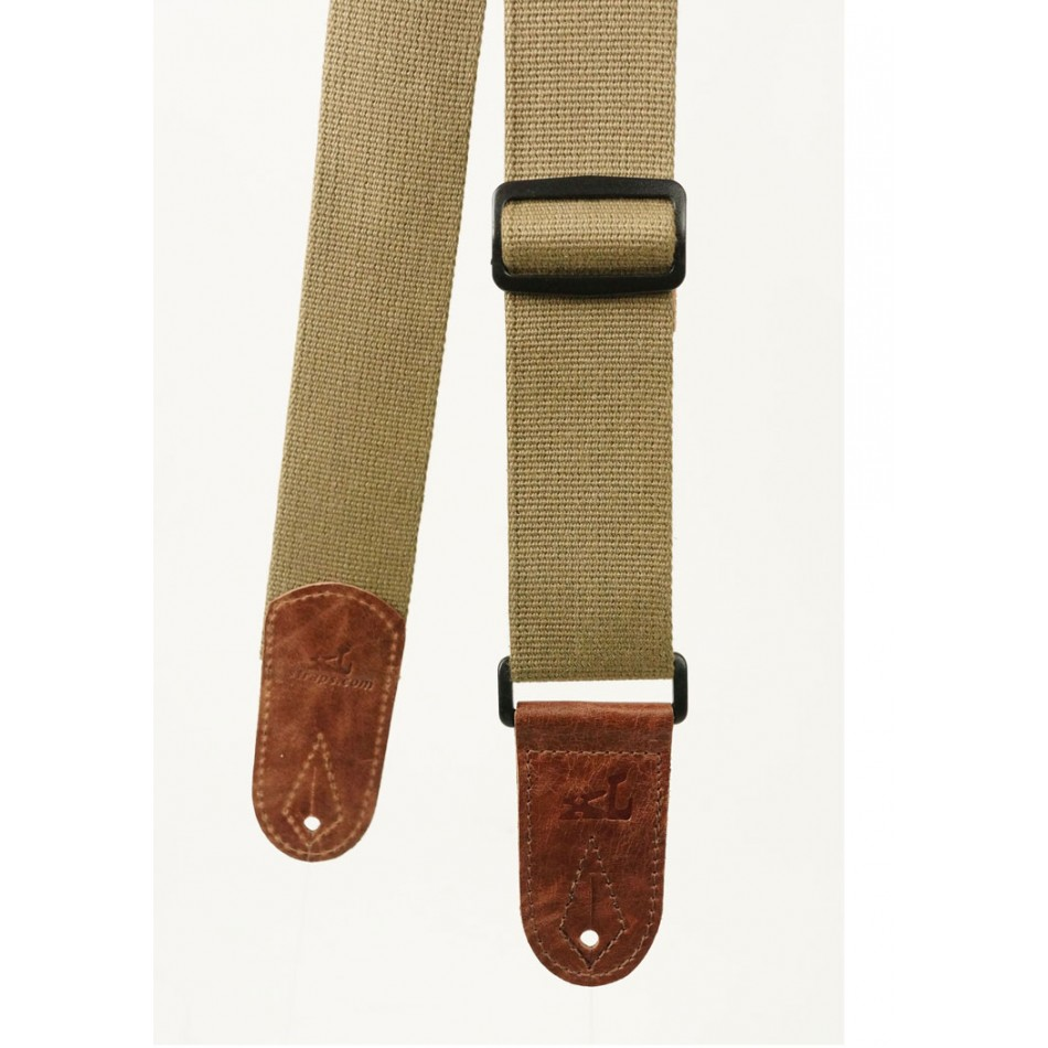 Cotton Webbing Guitar Strap Green